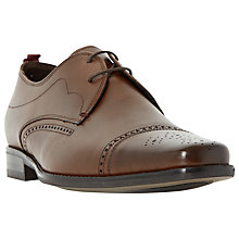 Buy Bertie Rigby Toecap Leather Brogue Derby Shoes, Tan Online at johnlewis.com