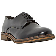 Buy Bertie Rolo Leather Derby Shoes, Black Online at johnlewis.com