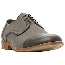 Buy Bertie Reno Contrast Toecap Derby Shoes, Black Online at johnlewis.com