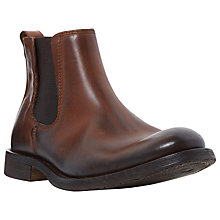 Buy Bertie Ceasars Brushed Leather Chelsea Boots, Tan Online at johnlewis.com