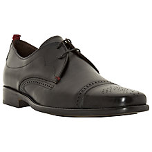 Buy Bertie Rigby Toecap Leather Brogue Derby Shoes, Black Online at johnlewis.com