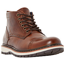 Buy Dune Champion Leather Sport Toecap Boots Online at johnlewis.com