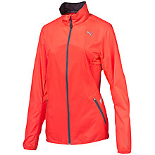 Buy Puma Night Cat Full Zip Running Jacket, Red Online at johnlewis.com