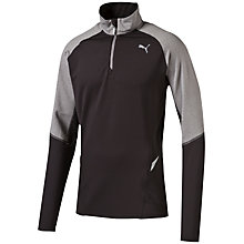 Buy Puma Night Cat Half Zip Running Jacket, Black/Grey Online at johnlewis.com