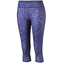 Buy Puma Graphic 3/4 Tights, Purple Online at johnlewis.com