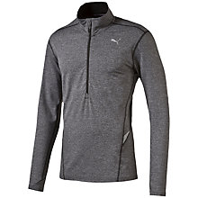 Buy Puma Half Zip Long Sleeve Running Top, Dark Grey Online at johnlewis.com