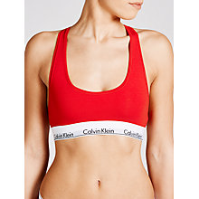 Buy Calvin Klein Modern Cotton Bralette, Defy Red Online at johnlewis.com