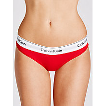 Buy Calvin Klein Modern Cotton Bikini-Cut Briefs, Defy Red Online at johnlewis.com