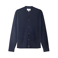 Buy Jigsaw Milano Wool Cardigan, Navy Online at johnlewis.com