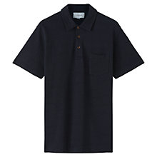 Buy Jigsaw Pique Short Sleeve Polo Shirt, Indigo Online at johnlewis.com