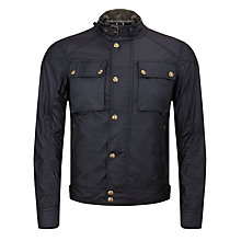 Buy Belstaff Racemaster Blouson Waxed Jacket, Black Online at johnlewis.com