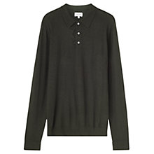Buy Jigsaw Merino Polo Shirt, Forest Online at johnlewis.com