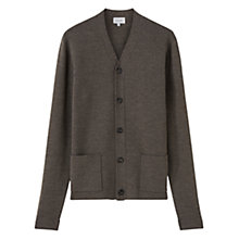 Buy Jigsaw Milano Wool Cardigan, Porcini Online at johnlewis.com