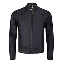 Buy Belstaff Outlaw Blouson Waxed Jacket, Black Online at johnlewis.com