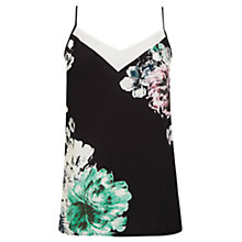 Buy Oasis Brushed Peony Camisole, Black Online at johnlewis.com