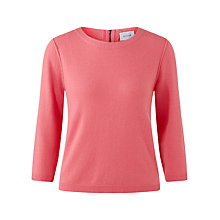 Buy Jigsaw Zip Back Crew Neck Sweater Online at johnlewis.com