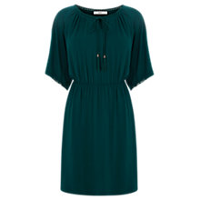 Buy Oasis Plain Tapestry Dress, Deep Green Online at johnlewis.com