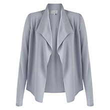 Buy Jigsaw Melange Rib Trim Cardigan, Cloud Online at johnlewis.com
