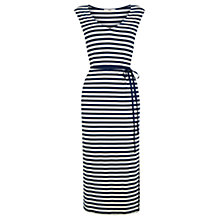 Buy Oasis Horizontal Striped Midi Dress, Multi/Blue Online at johnlewis.com
