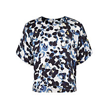 Buy Jigsaw Smudge Spot Silk Top, Multi Online at johnlewis.com