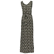 Buy Fat Face Pintuck Elephant Maxi Dress, Phantom Online at johnlewis.com