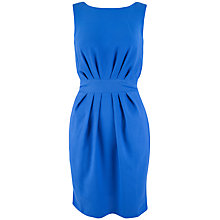 Buy Almari Pleat Waist V-Back Dress, Blue Online at johnlewis.com