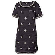 Buy Fat Face Tenby Linen Embroidered Dress, Phantom Online at johnlewis.com