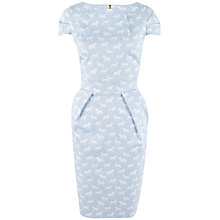 Buy Closet Horse Print Tulip Dress, Blue/White Online at johnlewis.com