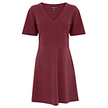 Buy Warehouse Angel Sleeve Dress, Dark Red Online at johnlewis.com