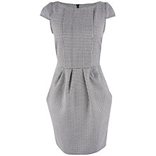 Buy Closet Check Pleat Front Dress. Black/White Online at johnlewis.com