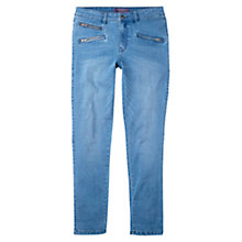 Buy Violeta by Mango Slim-Fit Vicky Jeans, Open Blue Online at johnlewis.com