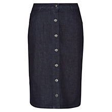 Buy Hobbs Shona Aline Skirt, Indigo Online at johnlewis.com