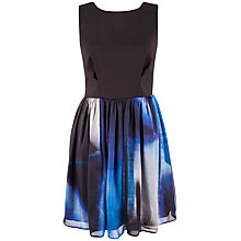 Buy Almari V-Back Silk Skirt Dress, Blue Online at johnlewis.com
