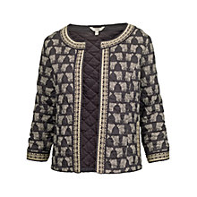 Buy Fat Face Quilted Elephant Jacket, Phantom Online at johnlewis.com
