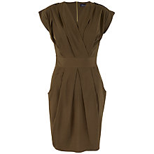 Buy Closet Military Tulip Dress, Khaki Online at johnlewis.com