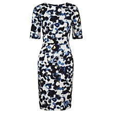 Buy Jigsaw Smudge Spot Silk Dress, Multi Online at johnlewis.com