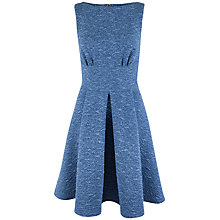 Buy Closet Denim Textured Skater Dress. Blue Online at johnlewis.com