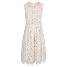 Buy Hobbs Leaf Lace Dress, Ivory Online at johnlewis.com