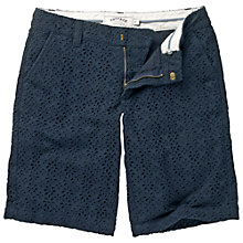 Buy Fat Face Broderie Shorts, Nightsky Online at johnlewis.com