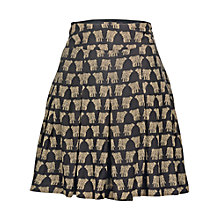 Buy Fat Face Pleat Elephant Cotton Skirt, Phantom Online at johnlewis.com
