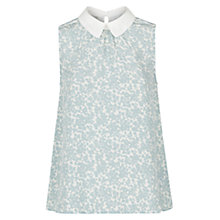 Buy Hobbs Bosworth Silk Top, Frost Blue Online at johnlewis.com