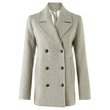 Buy Jigsaw Pea Coat, Grey Online at johnlewis.com