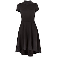 Buy Almari Jacquard Dipped Hem Dress, Black Online at johnlewis.com