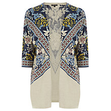 Buy Warehouse Border Print Kimono Cardigan, Multi Online at johnlewis.com