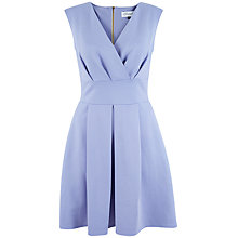 Buy Closet Cross Over Box Pleat Dress, Pale Blue Online at johnlewis.com