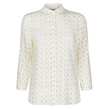 Buy Hobbs Dot Shirt, Ivory Stone Online at johnlewis.com