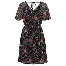Buy Warehouse Angel Sleeve Floral Dress, Multi Online at johnlewis.com