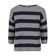 Buy Hobbs Brooke Jumper, Navy / White Online at johnlewis.com