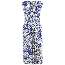 Buy Closet Paint Print Cross Over Midi Dress, Navy Online at johnlewis.com