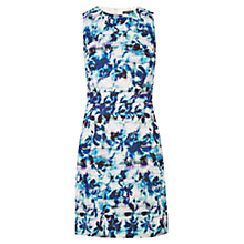 Buy Warehouse Shadow Leaf Textured Dress, Multi Online at johnlewis.com